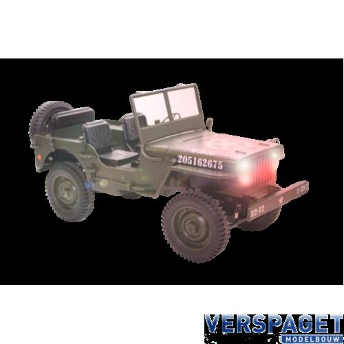 1/12 Miltary Jeep Groen -50375