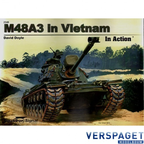 M48A3 PATTON TANK IN VIETNAM IN ACTION 2046