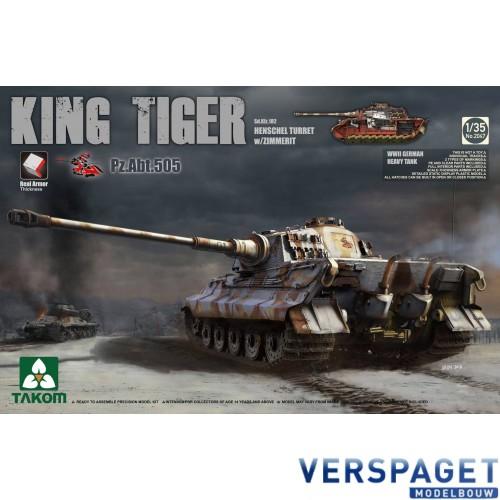 KING Tiger Pz.ABT.505  Sd.Kfz.182 HENSCHEL TURRET w/ZIMMERIT -2047