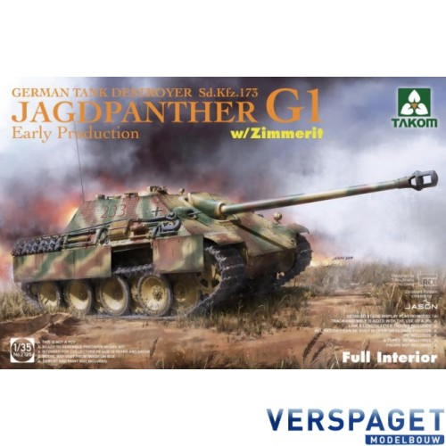 Jagdpanther G1 Early Production w/zimmerit & full interior -2125