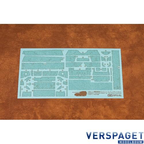 Zimmerit Coating Sheet - 1/48 Scale Elefant -12671