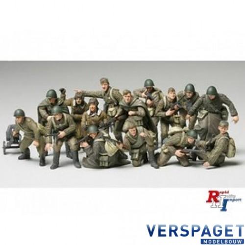 WWII Russian Infantry & Tank Crew Set -32521