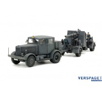 GERMAN HEAVY TRACTOR SS-100 & 88mm GUN FLAK37 SET -37027