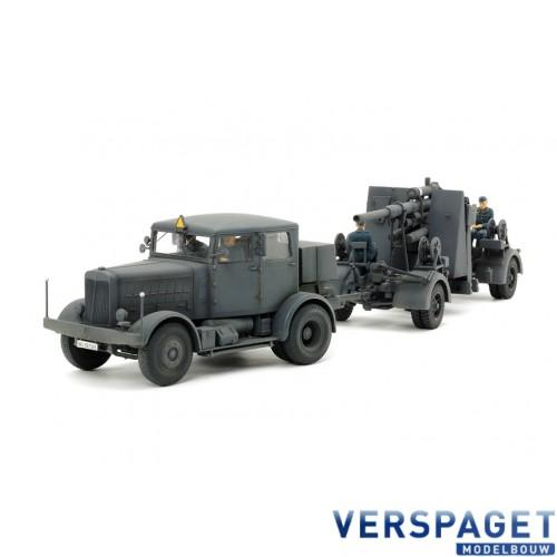 GERMAN HEAVY TRACTOR SS-100 & 88mm GUN FLAK37 SET -37027