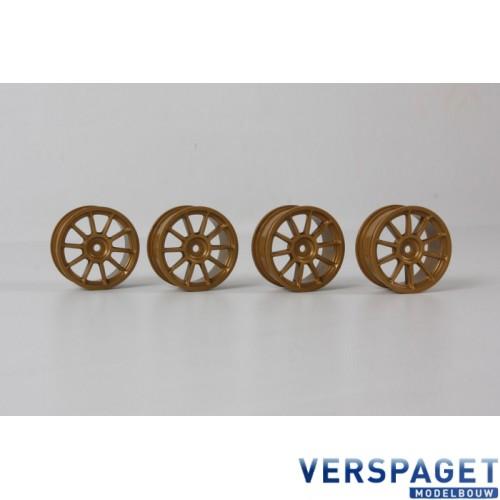 24mm 10-Spoke Wheels-4pcs - Gold/+0 Offset -51022
