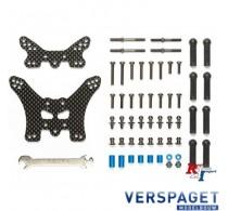 TT-02B Demperbruggen carbon voor en achter -54754