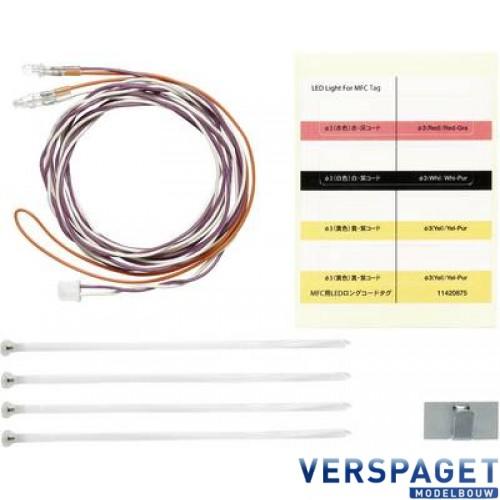 MFC-LED Wit Ø3MM (2) lang 1100MM -56550