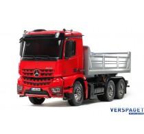 Mercedes Benz Arocs 3348 6x4 Tipper Truck RED Cab Edition -563361& Gratis Accu pack 7,2 volt 3000 Mah  twv 22,99