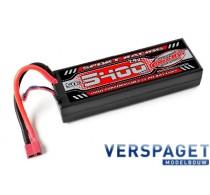 Bashing Series 5400mAh 7.4V 2S1P 50C-100C Hardcase Lipo Batterij - T Stekker -C-49125-D