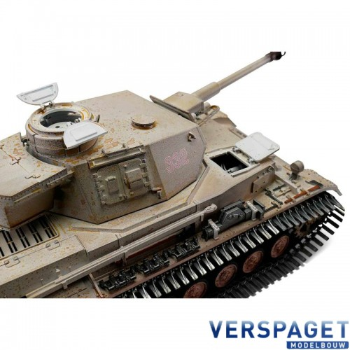 RC Pro-Edition PzKpfw IV Ausf. G Div. LAH Kharkov 1943 winter Tank metal edition IR geleverd in luxe houten krat -1114113065