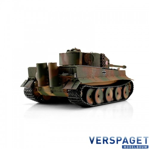 RC Pro-Edition Tiger I Middle Vers. camo IR Tank metal edition geleverd in luxe houten krat -1112800108