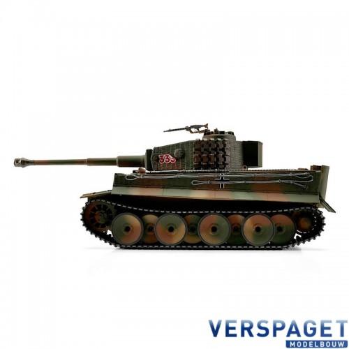 RC Pro-Edition Tiger 1 Mittlere Ausf Camoflage  Tank metal edition IR geleverd in luxe houten krat & Rook uit de loop Versie -11503-CA