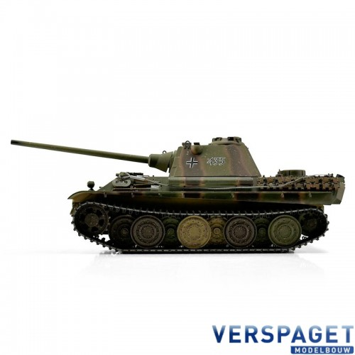 RC Pro-Edition 1/16 RC Panther F camo IR Tank Smoke metal edition geleverd in luxe houten krat & Rook uit de loop Versie -11505-CA