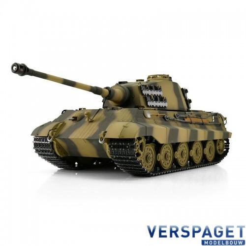 RC Pro-Edition 1/16 RC Kingtiger Camo IR Tank metal edition geleverd in luxe houten krat & Rook uit de loop Versie -11510-CA