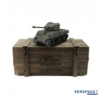 RC Pro-Edition Sherman M4A3 Tank metal edition IR geleverd in luxe houten krat -1114113065