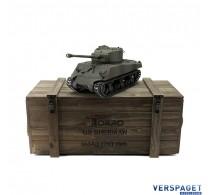 RC Pro-Edition Sherman M4A3 Tank metal edition IR geleverd in luxe houten krat -1114113085