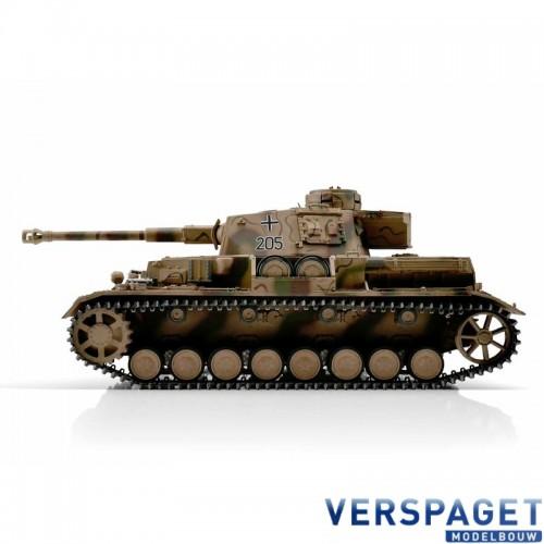 RC Pro-Edition Panzer Tank IV. version G metal edition camouflage geleverd in luxe houten krat -1110385900
