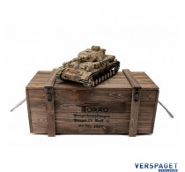 RC Pro-Edition Panzer Tank IV. version G metal edition camouflage geleverd in luxe houten krat -1110385900