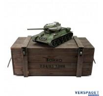 RC Pro-Edition T34/85 Tank BB metal edition geleverd in luxe houten krat -1112400400