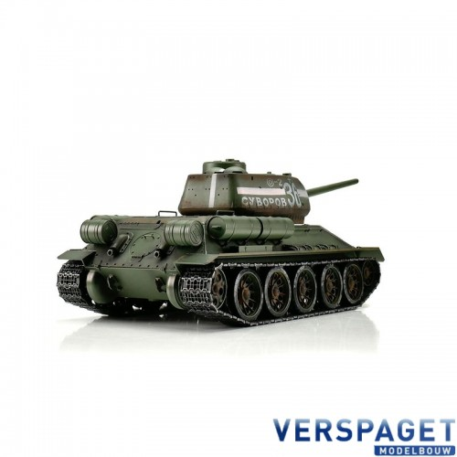RC Pro-Edition T34/85 Tank BB metal edition geleverd in luxe houten krat -1112400400