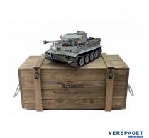 RC Pro-Edition Tiger 1 Early Version grau Tank metal edition BB geleverd in luxe houten krat -1112200100