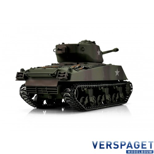 RC Pro-Edition Sherman M4A3 76mm tarn Tank metal edition BB geleverd in luxe houten krat -1114213060