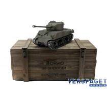 RC Pro-Edition Sherman M4A3 76mm tarn Tank metal edition BB geleverd in luxe houten krat -1114213060