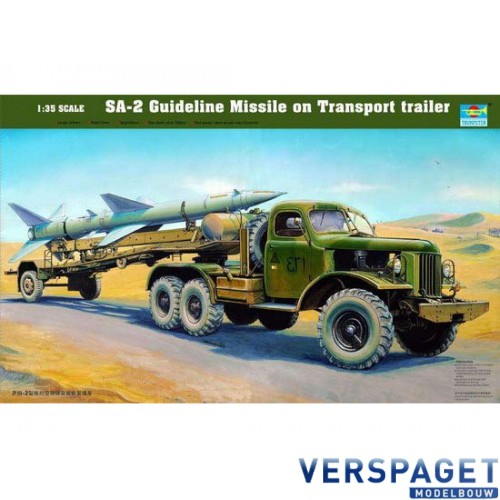 SA-2 Guideline Missile on Transport trailer -00204