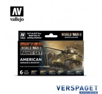 Model Paint Set - WWII American Armour & Infantry