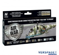 """Model Air Paint Set - Soviet/Russian Combat Helicopters from """"Cold War"""" to Present -71601"""