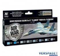 """Model Air Paint Set - Soviet/Russian Colors Su-27 """"Flanker"""" from 80's to Present -71602"""