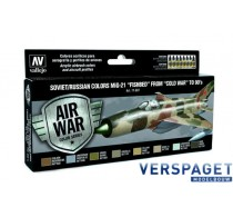 Air Paint Set - Soviet/Russian Colors MiG-21 Fishbed from 50s to 90s