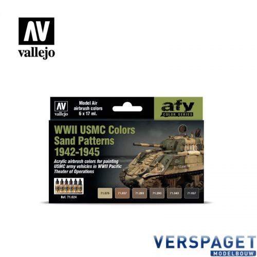 Air Paint Set - WWII USMC Colors Sand Patterns 1942-1945