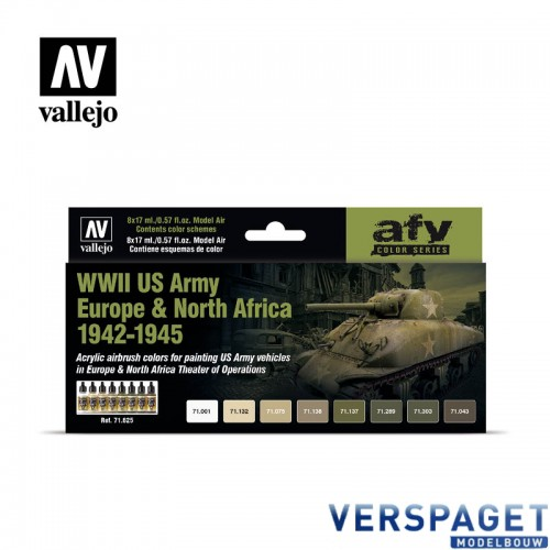 Air Paint Set - WWII US Army Europe & North Africa 1942-1945