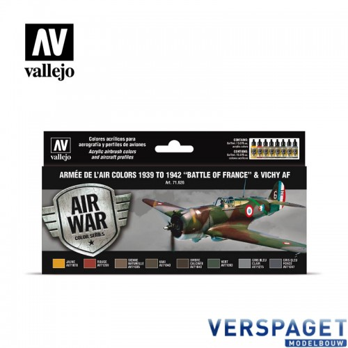 "Air Paint Set - 1939 to 1942 ""Battle of France"" & Vichy AF"