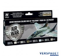 """Model Air Paint Set - Soviet/Russian Colors MiG-29 """"Fulcrum"""" from 80's to Present -71605"""