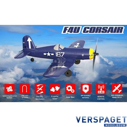 CORSAIR F4U 4CH 400MM BRUSHED W/GYRO EPP RTF  -V761-8