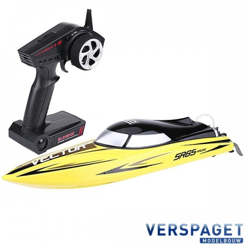 VECTOR SR65CM BRUSHLESS RACING BOAT RTR Yellow -V792-5Y
