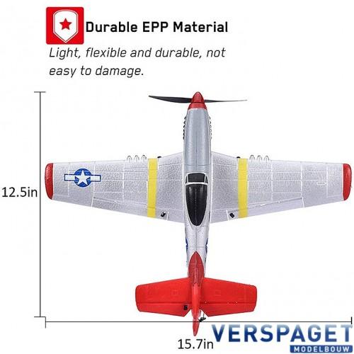 P-51D MUSTANG 4CH 400MM BRUSHED W/GYRO EPP RTF V761-5
