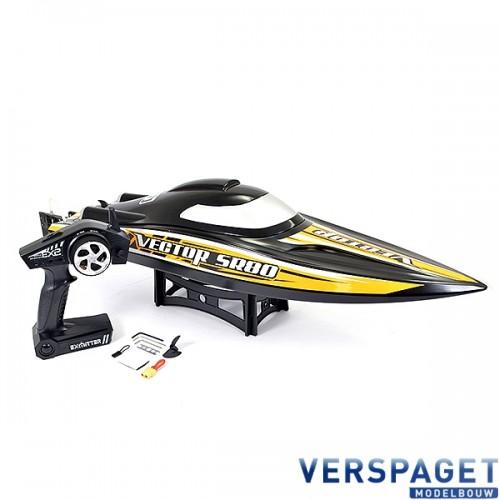 VOLANTEX VECTOR SR80 BRUSHLESS BOAT BLACK/ORANGE -V798-4