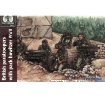 BRITISH PARATROOPERS WITH PACK HOWITZER WWII -AP036