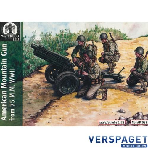 AMERICAN MOUNTAIN GUN 75 M.M. WWII -AP038