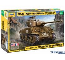 """US medium tank M4A3 (76) W """"SHERMAN"""" -3676"""