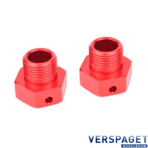 Wheel Hex Adapter - Wide RTR - Aluminum - 2 pcs -C-00180-329